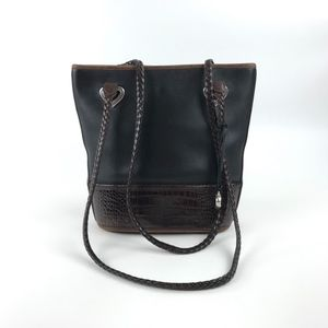 Brighton Bucket Bag Purse Black Brown